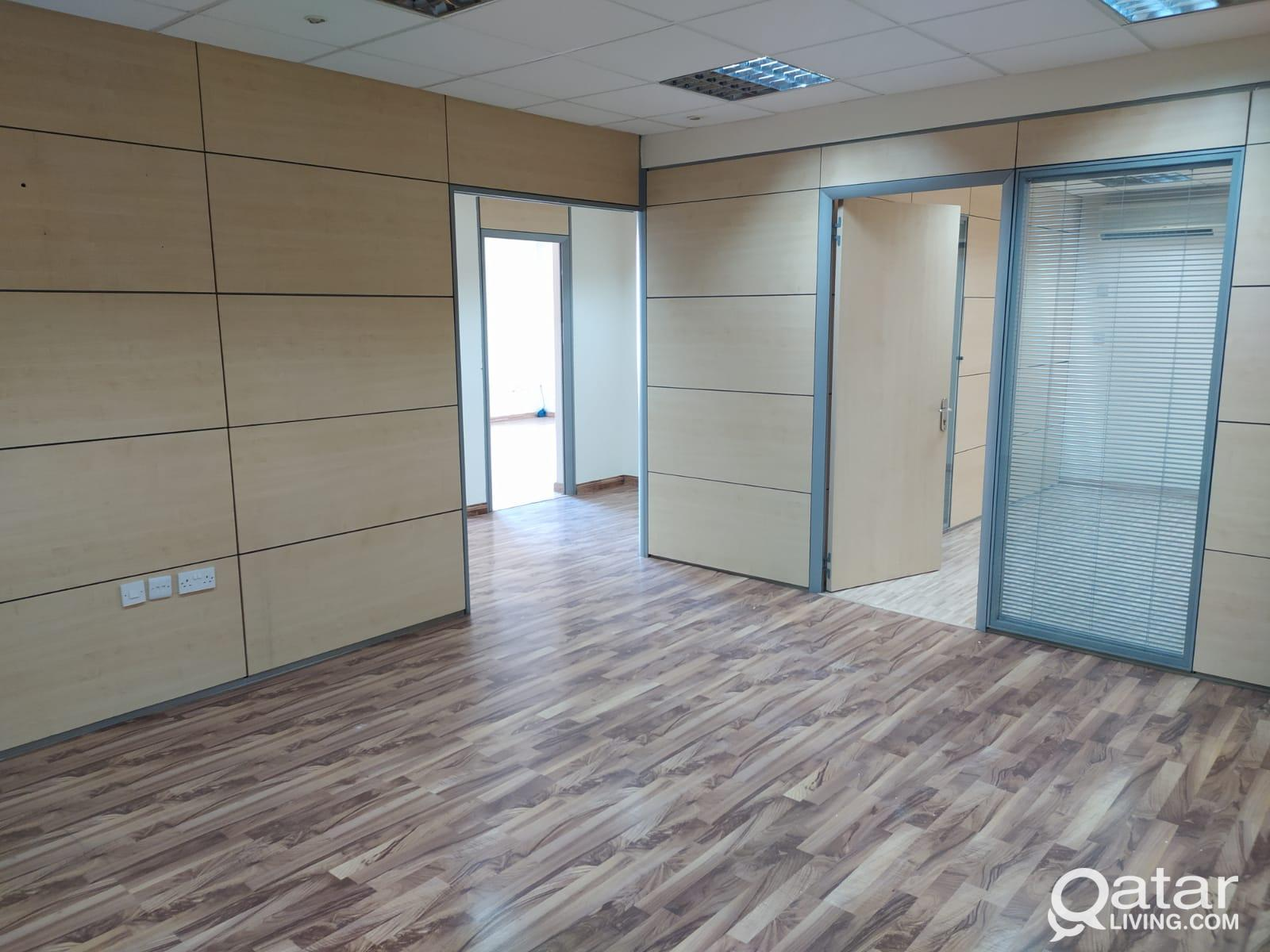 128 Sqm Partitioned Office with Parquet flooring i