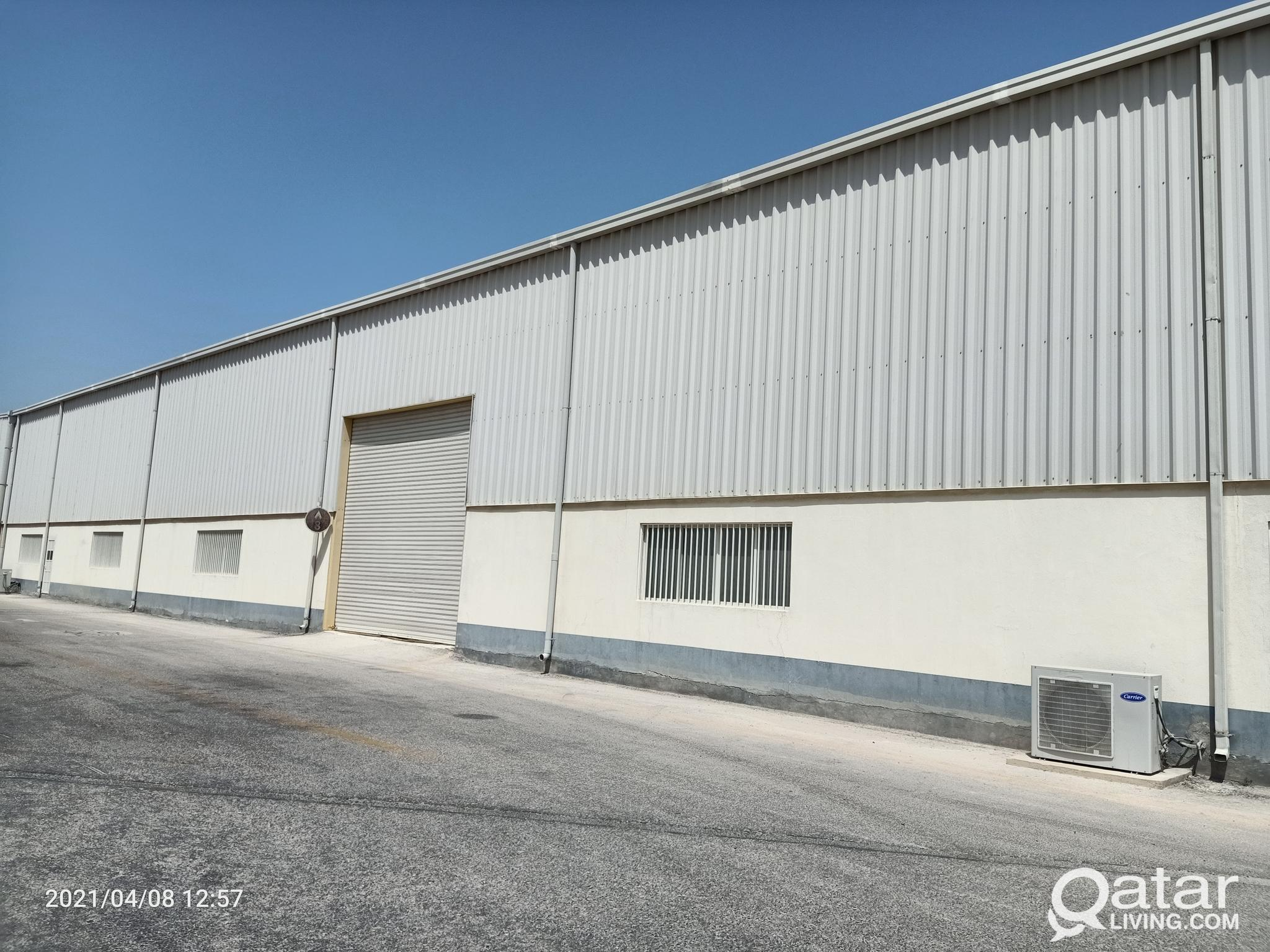 STORAGE WAREHOUSE AVAILABLE FOR RENT