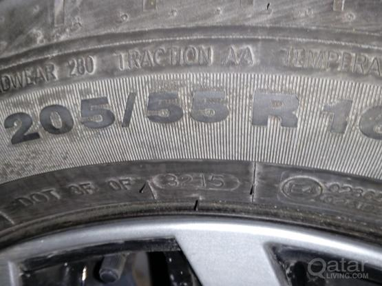 16 inch tires and ring with wheelcups