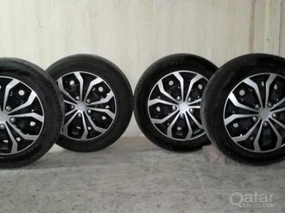 5 bolt 16 inch tires rings and wheel cups