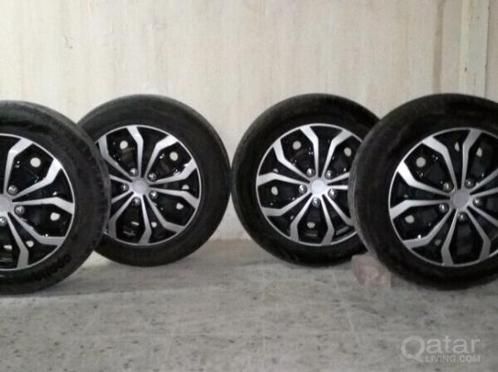 16 inch new tires and new orginal rings wheelcups