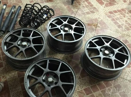 16 inch orginal japan rings with brand new tires