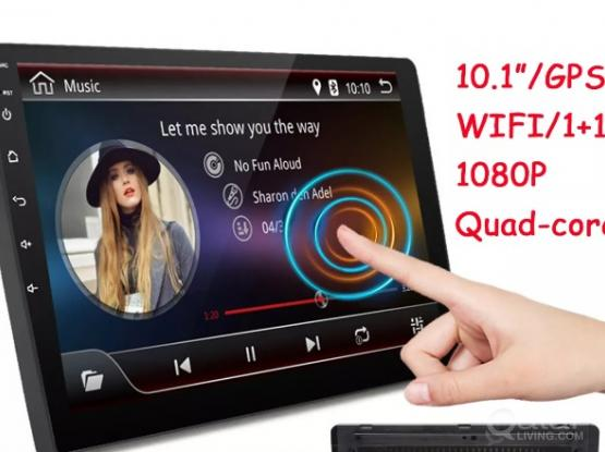 10.1 Inch 2DIN WIFI DAB GPS 1+16G Android Car MP5 Player,  Android 8.1