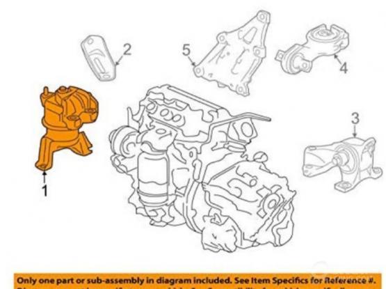 Honda Civic 2012-2015 Engine Mount - Brand New Genuine Honda part