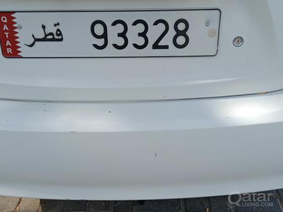 5 digit Car Plate Number  -93328-   for Sale