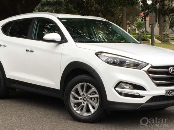 SUV HYUNDAI TUSCON FOR RENT ONLY 2000 QAR MONTHLY ,CALL/WHTSAPP 50399150/33131241