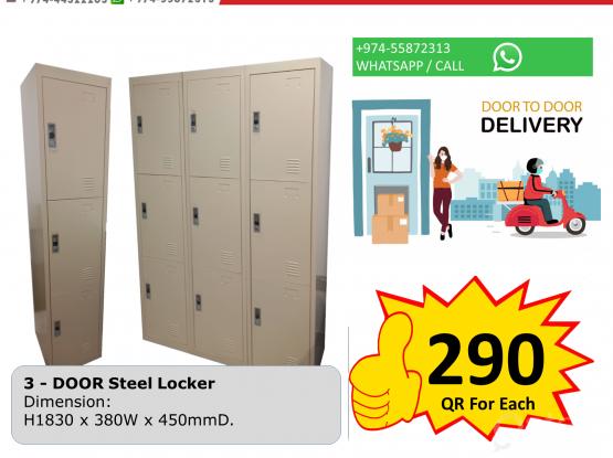 3 Door Steel Lcoker