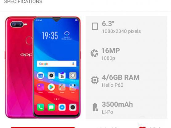 Oppo F9 Smart Phone.