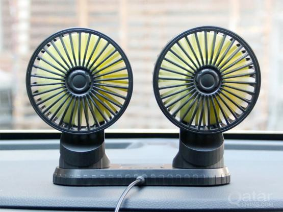 Car Fan, 12 Volt, 360 degree rotatable USB port