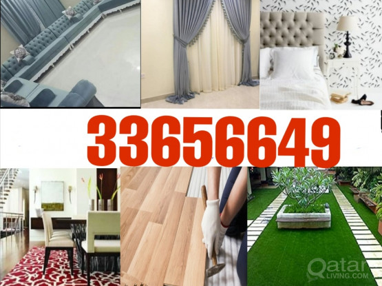 Curtain, sofa, wallpaper and barkia making and selling . Please call 33656649