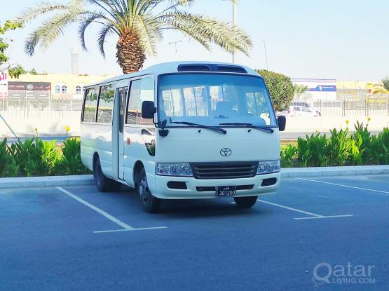 TOYOTA COASTER 26 SEATER- AVAILABLE FOR SHORT & LONG TERM RENT