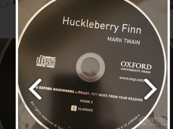 Huckleberry Fin Book & Audio CD.  (Unused)