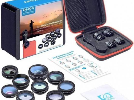 Apexel 10 in 1 Cell Phone Camera Lens Kit - APL-DG10