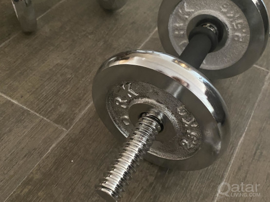 Brand new unused dumbells with 13kg total