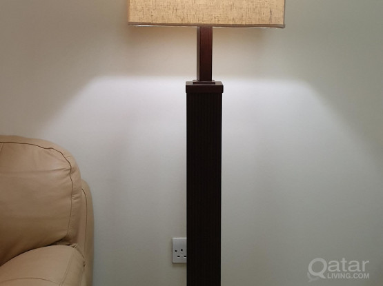 Moving Sale - stand lamp, table lamp and candle holders