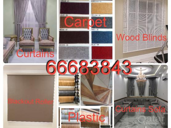 Windows Curtains Blackout Roller Blinds Vertical Plastic PVC Vinyl Parquet Tiles Carpet Installation, Sales, New Making & Fixing.Call Me 66683843