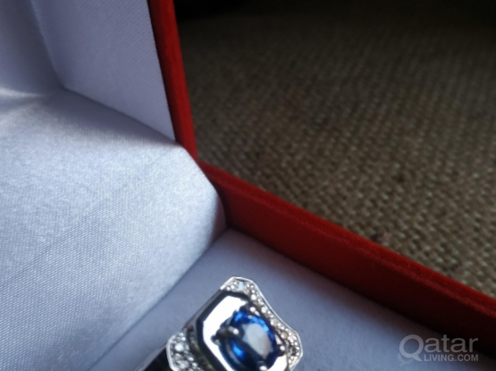 Sapphire and Diamonds Ring (men's)