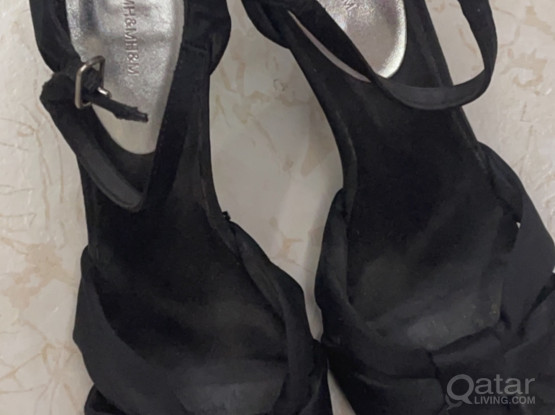 "H&M shoes "" high heel"" black"
