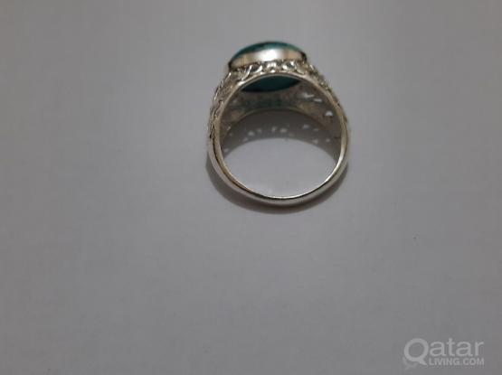 Gemstone ring precious Copper turquoise