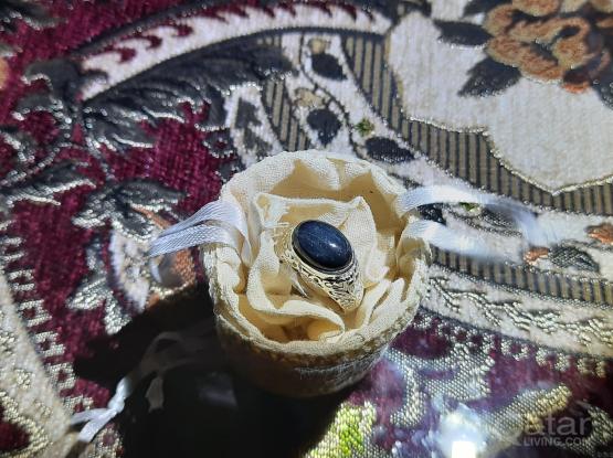 Gemstone ring Black tiger eye
