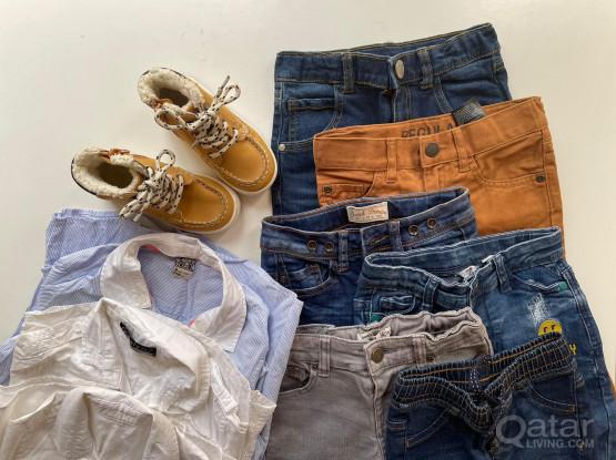 Negotiable - Mixed Boy Pants & Shoes (Free 3 Polo Shirts)
