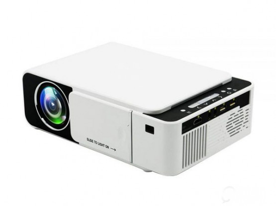 T5 WiFi Mini Projector 480p 2600 Lumens Smart Video LED Projector Home Theater White