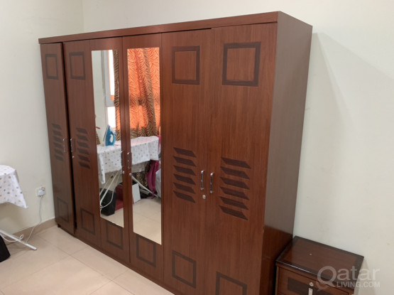 6-door Wardrobe Wooden Barely Used As New