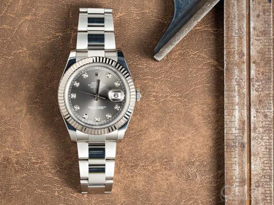 Rolex Datejust II Diamond Dial Silver 41mm