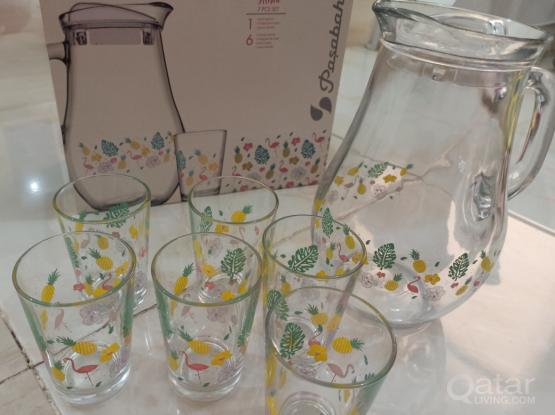 Urgent sale glass jar set 7 pcs
