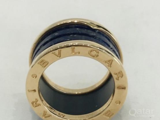 Bvlgari B.Zero1 Blue Marble Ring. Authentic Item