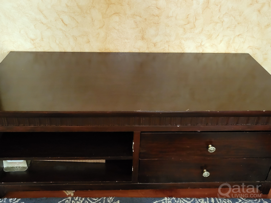 TV table stong wood