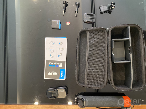 Original gopro case with official gopro accessories