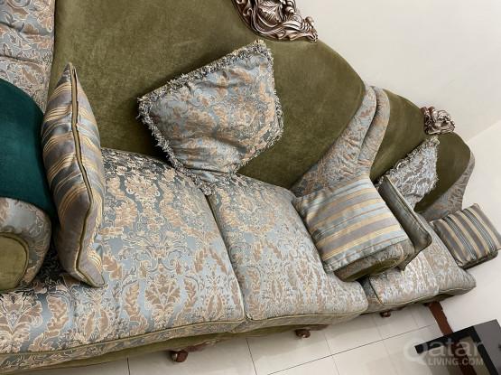 Antique Design Sofa- Six Seater with Sofa Cushions