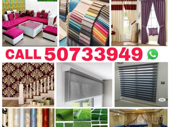Hi,Call/WhatsApp+97450733949 Are you looking home making and fixing  like  curtain sofa,majlish,Chair new